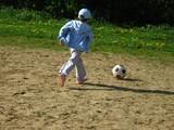girl and football poster