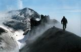 volcano kluchevskaja summit poster
