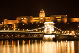 budapest chain bridge and castle poster