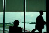 motion blur of a traveller poster