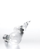 row of light bulbs - all in focus poster