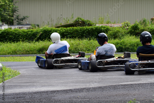 three kartings