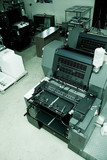 offset printing machine poster