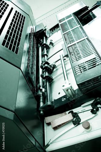 poster of offset printing machine