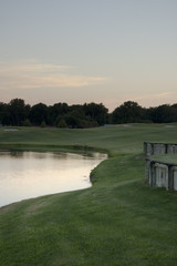 gold course at dusk 2