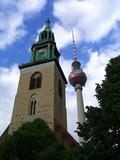 Fototapety marienkirche + fernsehturm