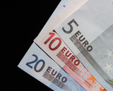 euro currency notes poster
