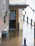 pub sign during floods poster