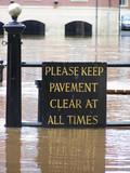 flooded york sign poster