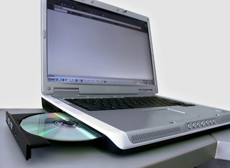 laptop with compact disc