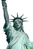 Fototapety isolated upper liberty statue