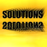 solutions illustration 3-d reflected poster