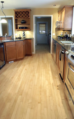 kitchen hard wood floor