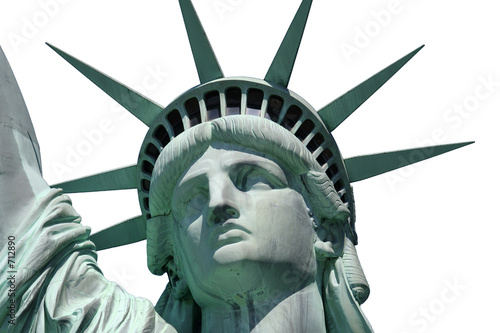 statue of liberty isolated close up