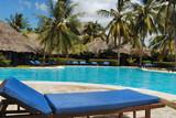 swimming pool of a luxurious resort in zanzibar poster