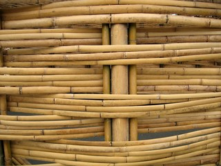 detail of bamboo construction