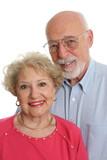 senior couple together vertical poster