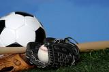 soccer ball - football, baseball, gloves poster