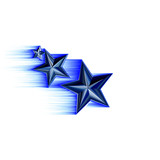 blue 3d shooting stars poster