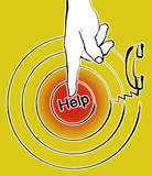 finger pointing to help poster