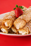 crepes filled with cream cheese poster