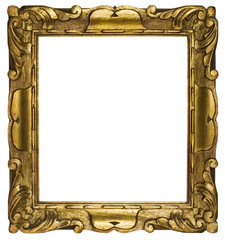 picture frame gold cubic (path included)
