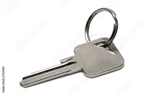 single apartment key w/ ring