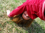 girl upside down poster
