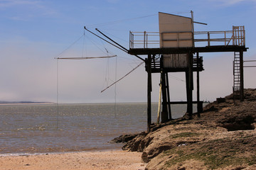 hutte de pêcheur, carelet à royan