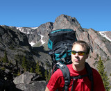 backpacking in the montana wildnerness poster
