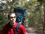 backpacking in the chitwan poster