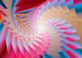 multicolor twirl abstract poster