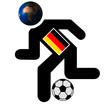 football running man image , germany
