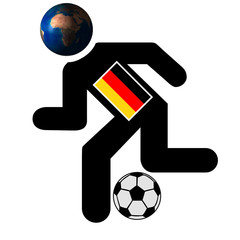 football running man image , germany