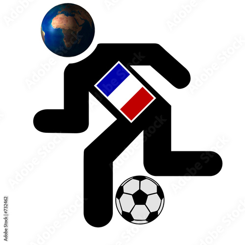 football running man image , france