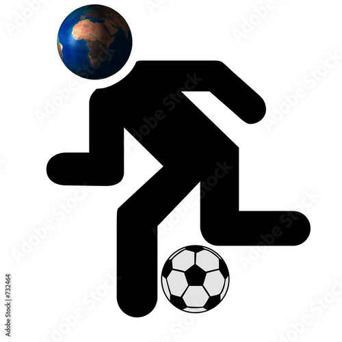 football running man image