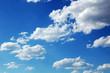 canvas print picture - blue sky clouds