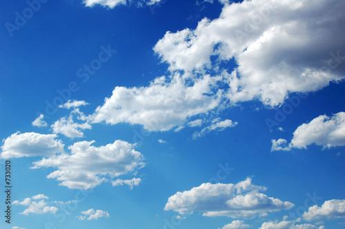 Leinwandbild Motiv blue sky clouds
