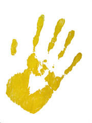 yellow handprinf