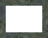 weathered picture frame poster