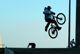 jumping with bicycle
