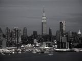new york skyline bw poster