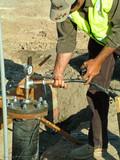 plumbing, pressure test poster
