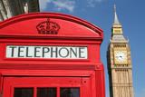 phone box and big ben, london poster