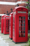 phone boxes, london poster