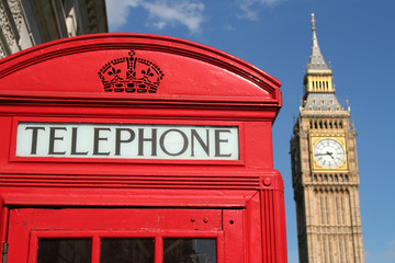 phone box and big ben, london