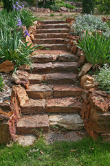 the garden stairs