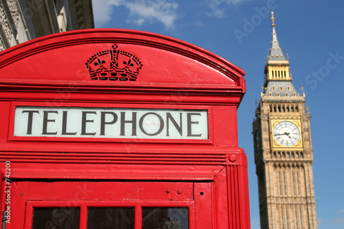 phone box and big ben, london