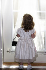little girl in windowlight