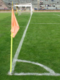 corner of  soccer field poster